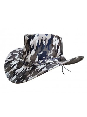 Camouflage Leather Hats